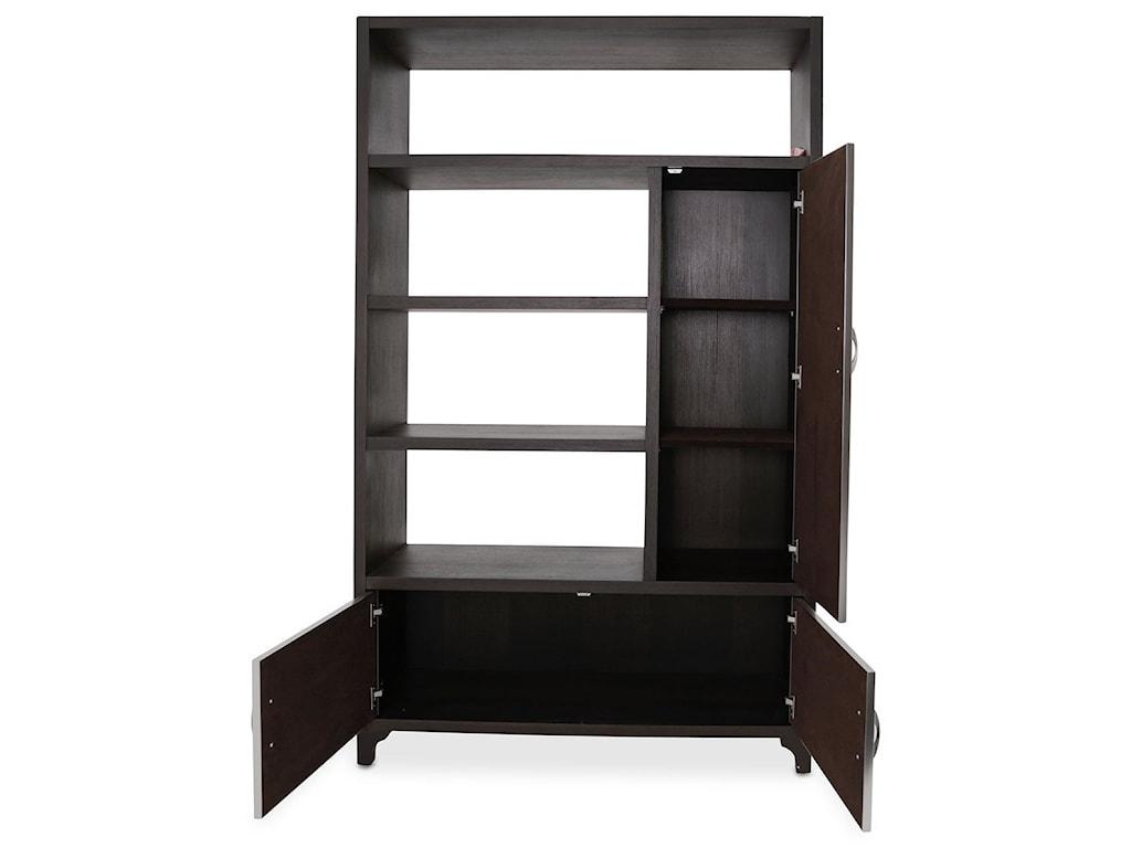 AICO - Michael Amini 21 CosmopolitanRight Bookcase w/ Doors