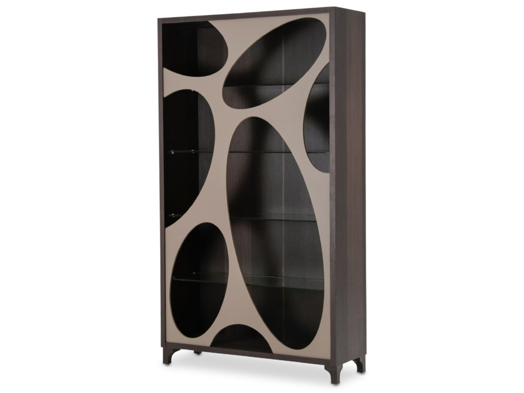 AICO - Michael Amini 21 CosmopolitanCenter Curio with Oval Cut-Out Doors