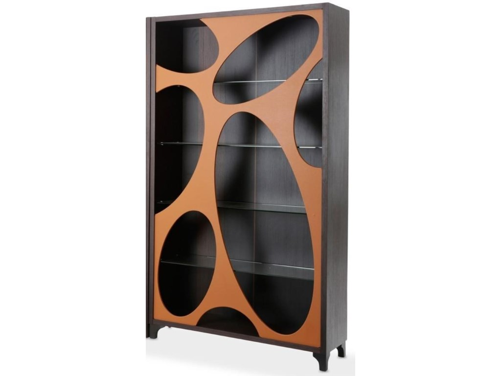 AICO - Michael Amini 21 CosmopolitanSide Curio with Oval Cut-Out Doors
