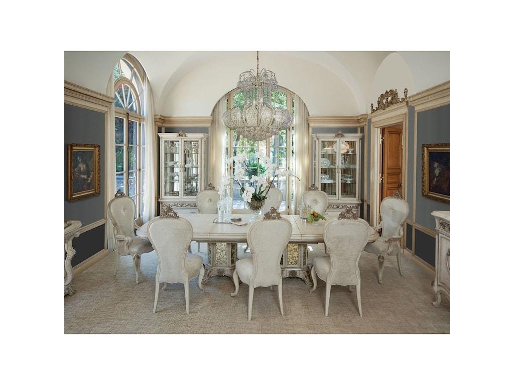 Aico Michael Amini Platine De Royale Formal Dining Room Group