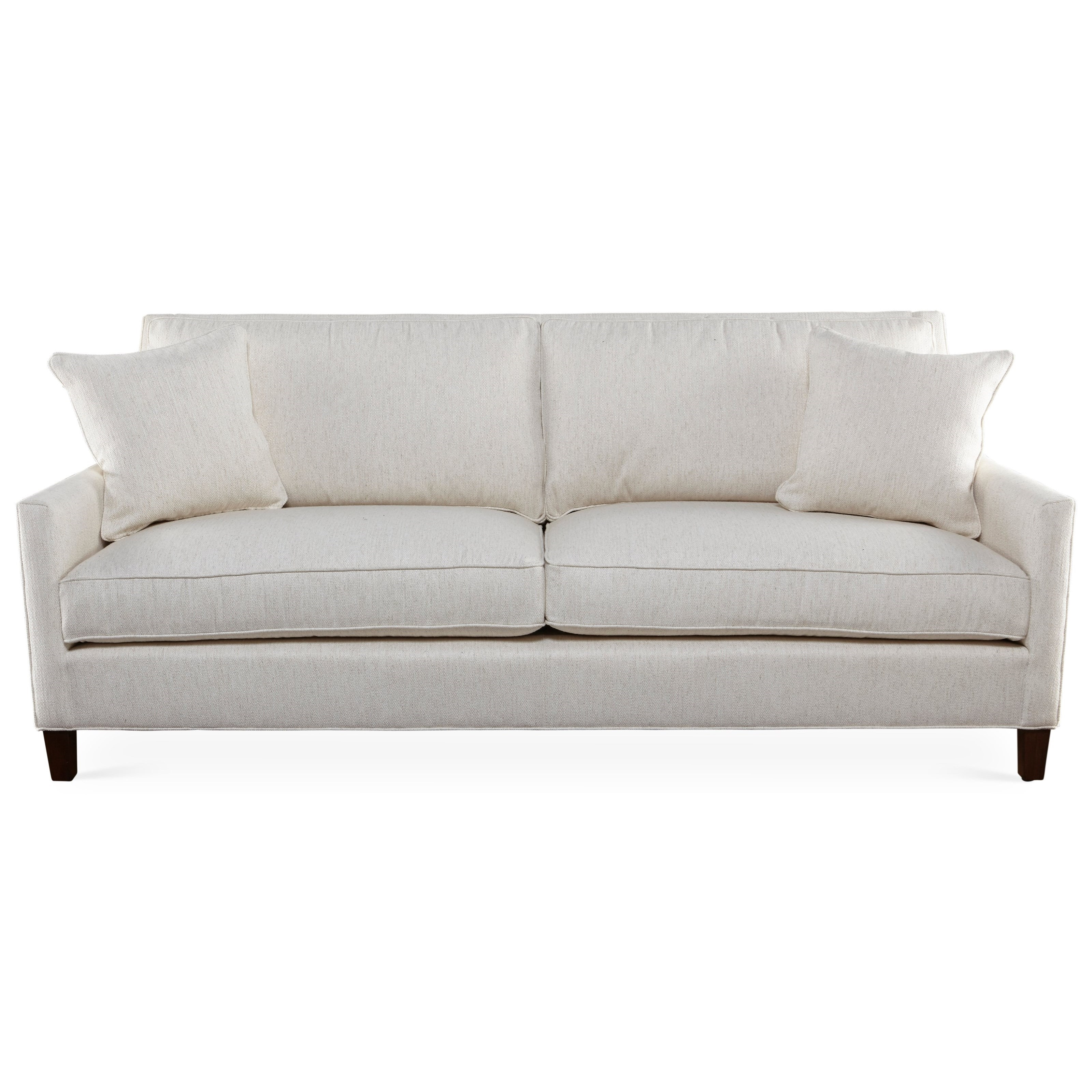Contemporary Two Cushion Sofa with Framed Back