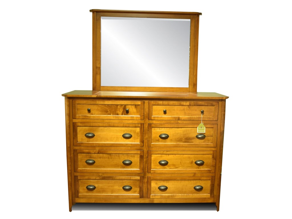 Amish Crafted in the USA BaldwinDresser and Mirror
