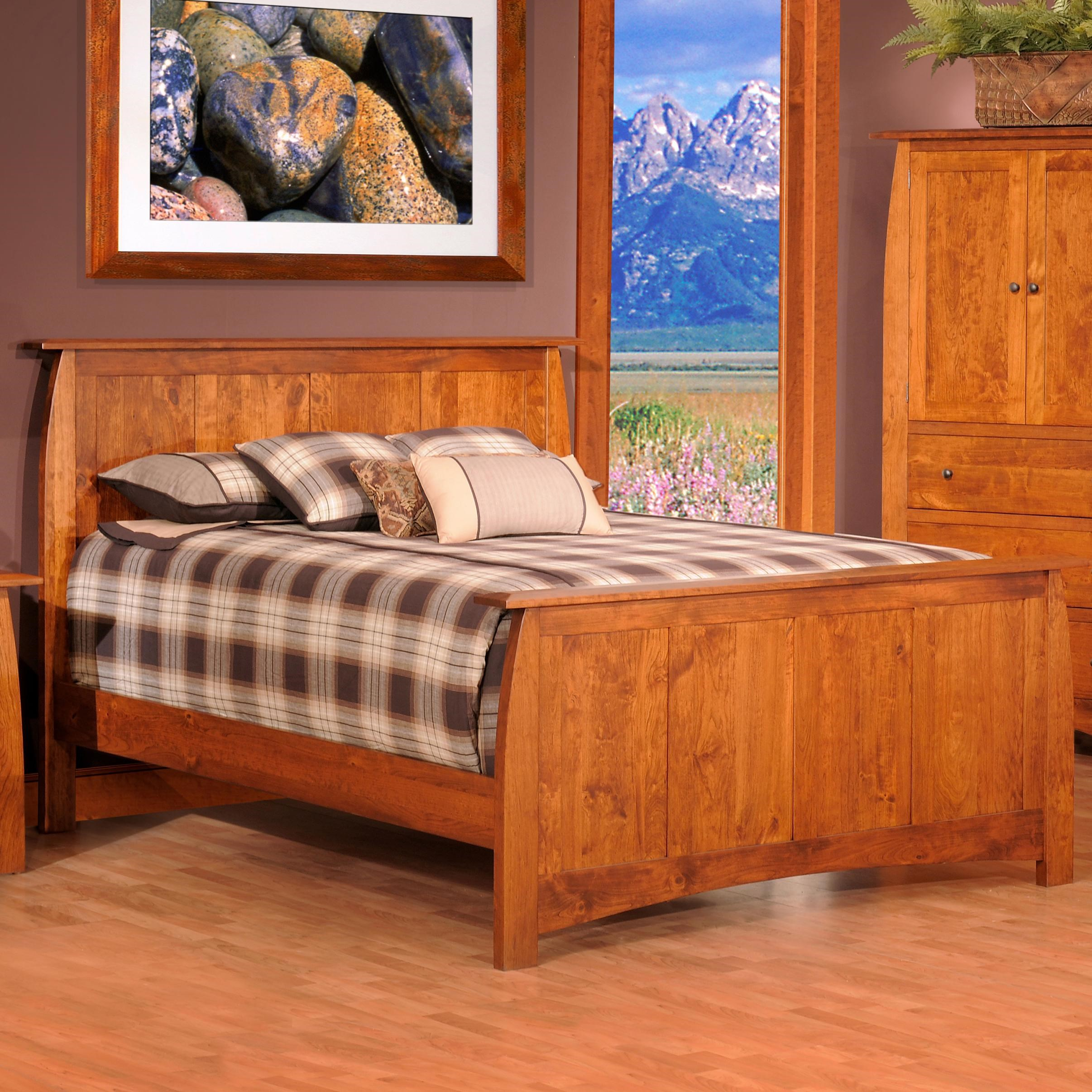 King Panel Wood Bed