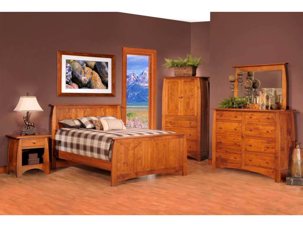 Millcraft BordeauxKing Panel Bed