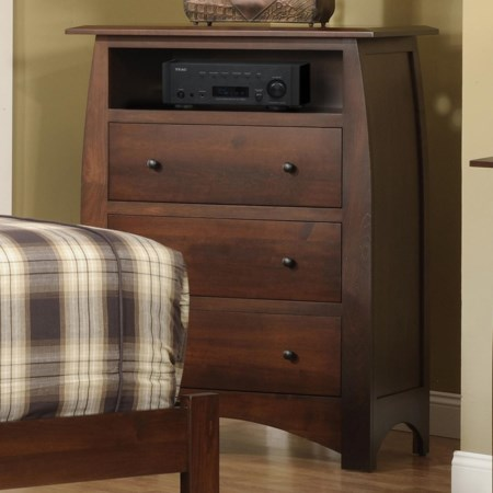 Chest with VCR shelf