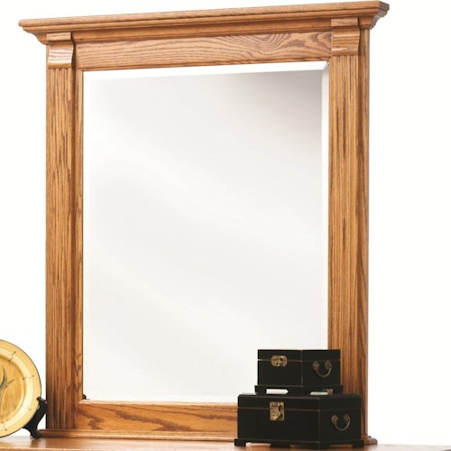 Rotmans Amish Journeys End Beveled Edge Mirror with Fluted Columns