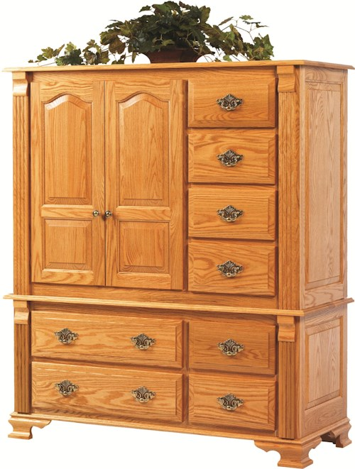 Rotmans Amish Journeys End Large 8 Drawer, 2 Door Chest of Drawers