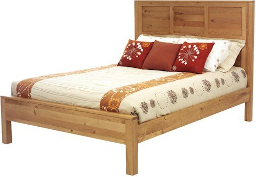 Rotmans Amish Wynwood Full Panel Bed with Hand-Rubbed Natural Finish