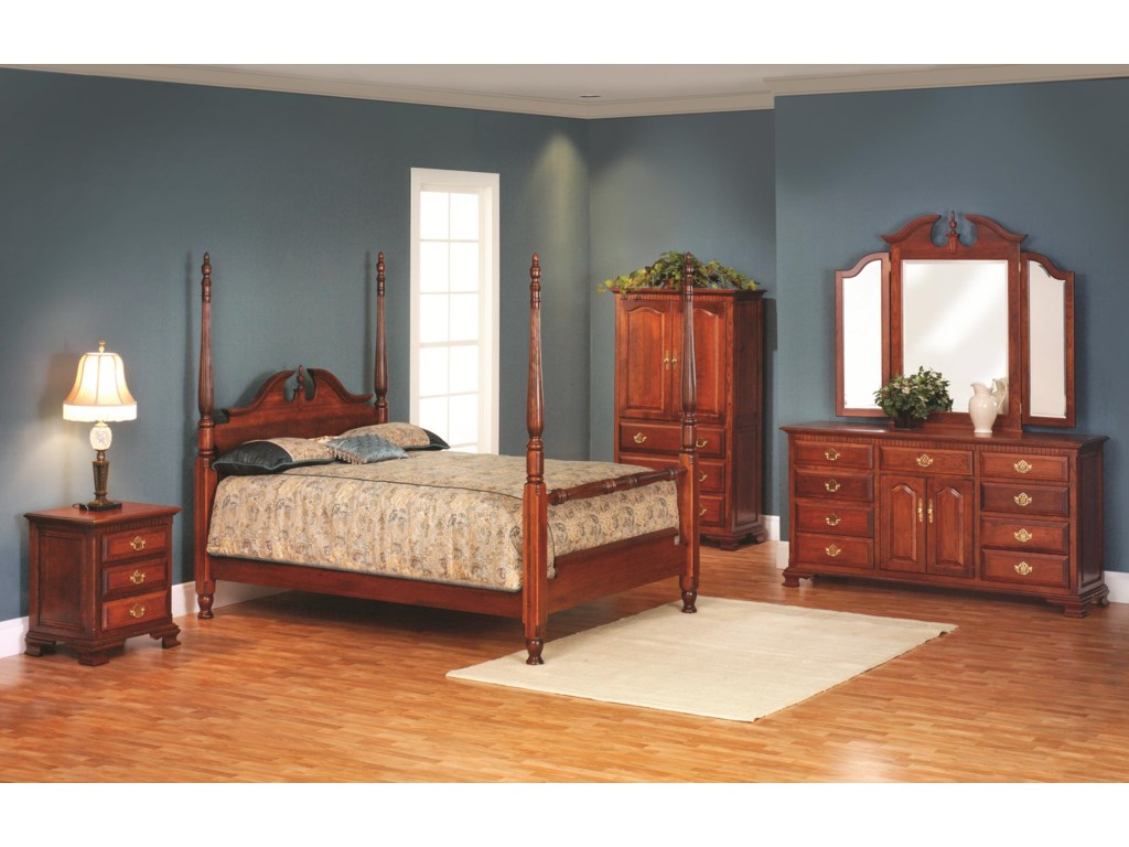 Millcraft Victorias TraditionQueen Poster Bedroom Group