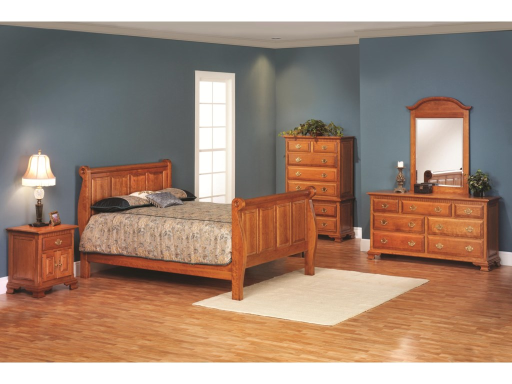 Millcraft Victorias TraditionQueen Sleigh Bedroom Group