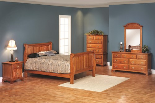 Rotmans Amish Victorias Tradition Queen Sleigh Bedroom Group