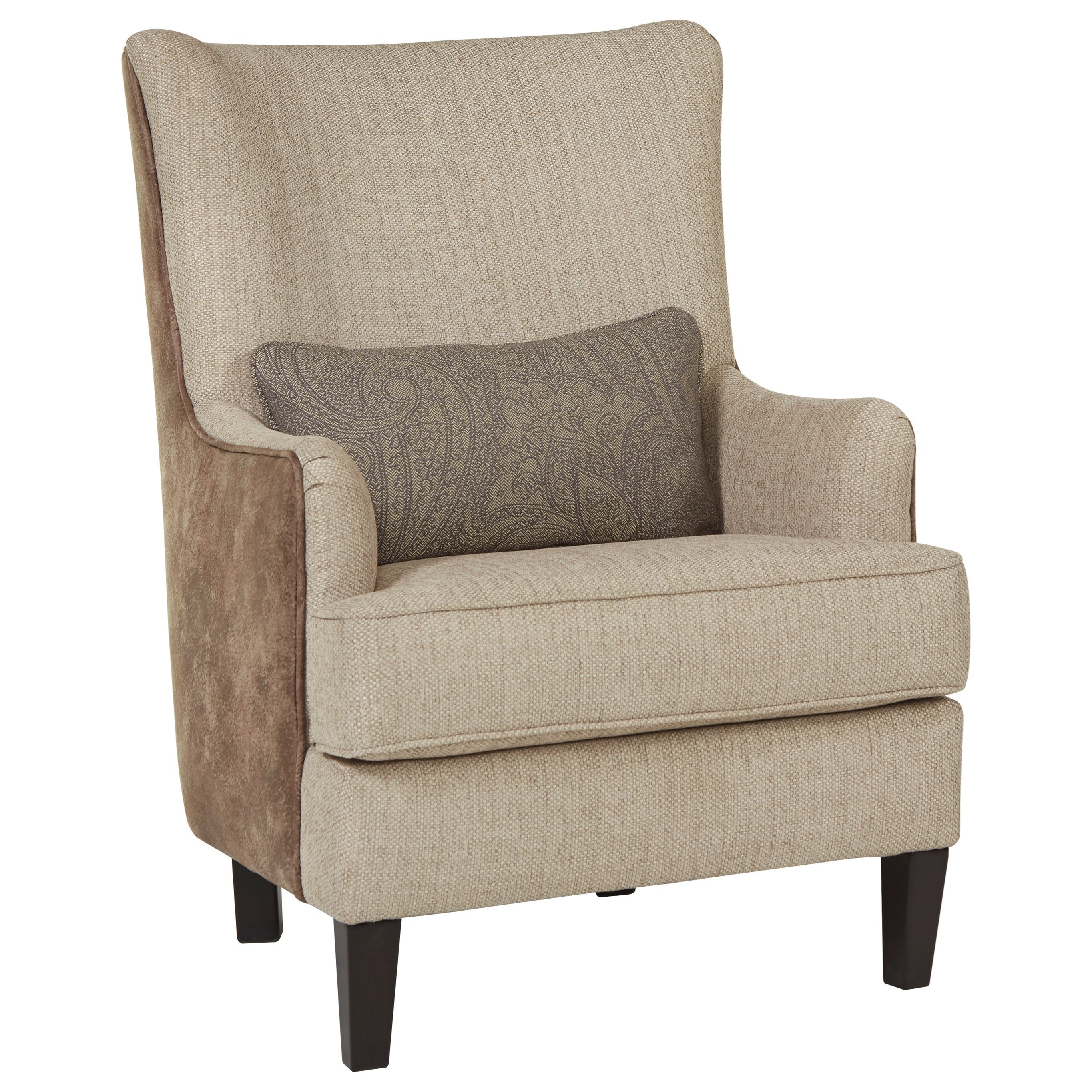 Millennium Baxley Modern Wing Back Accent Chair With Kidney Pillow    Furniture And ApplianceMart   Wing Chairs