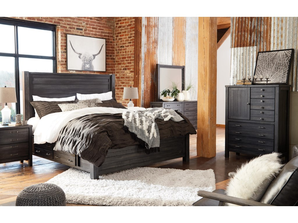 Millennium BaylowKing Panel Bed with Storage Package
