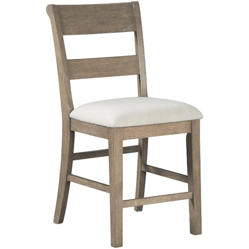 Millennium Chapstone Contemporary Upholstered Barstool with Slat Back Styling
