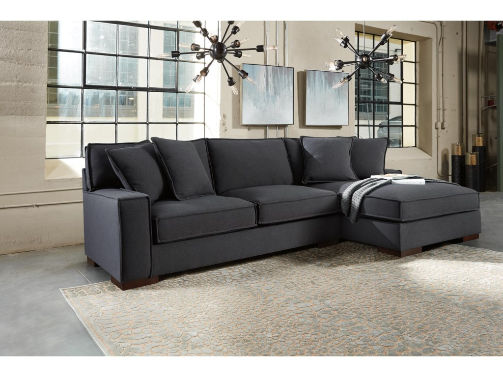 Charcoal 2 Pc Sectional