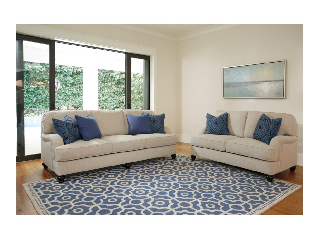 Furniture upholstery group bay city saginaw - Millennium Harahan Stationary Living Room Group