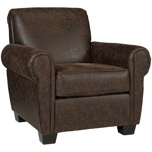 Millennium Ilena Brown Weathered Faux Leather Accent Chair