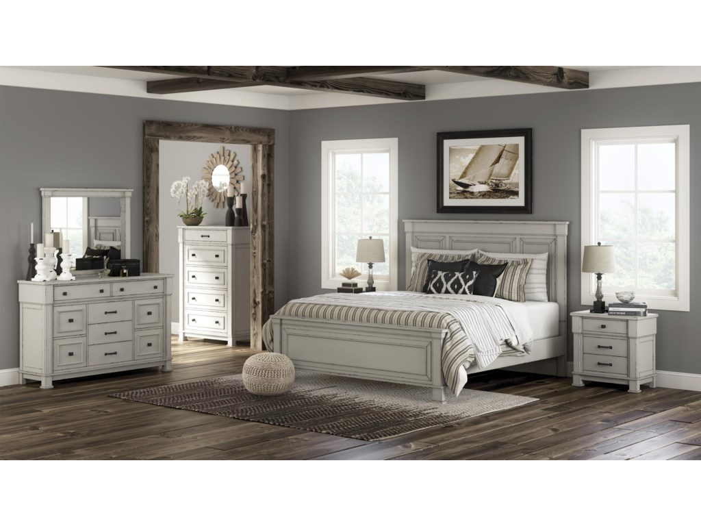 Millennium JennilyQueen Panel Bed Package