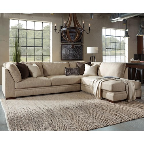 Millennium Malakoff 2-Piece Sectional with Right Chaise & UltraPlush Cushions
