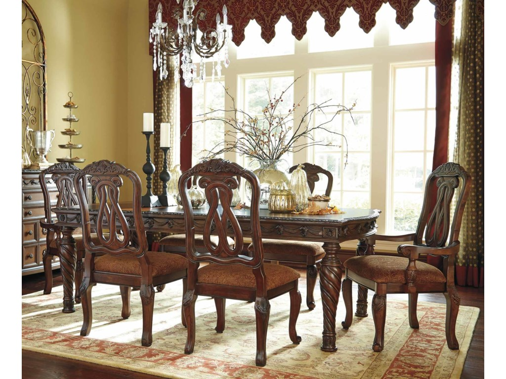 Millennium old world7pc dining table chair set