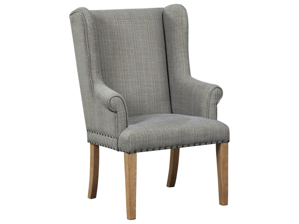 Millennium Ollesburg Upholstered Dining Arm Chair With Nailhead Trim