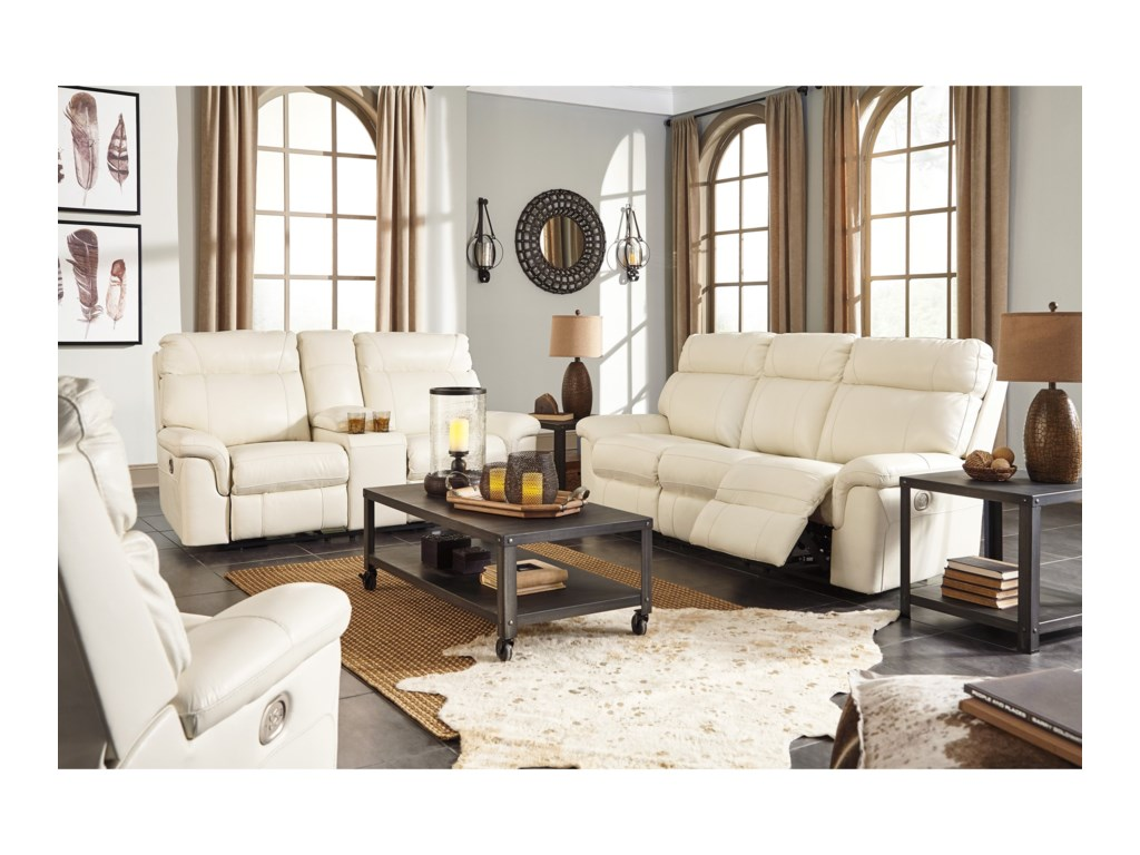 Millennium Whiteville Reclining Living Room Group | Value City ...