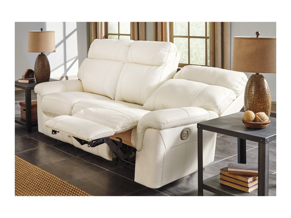 Millennium Whiteville Contemporary Leather Match Power Reclining ...