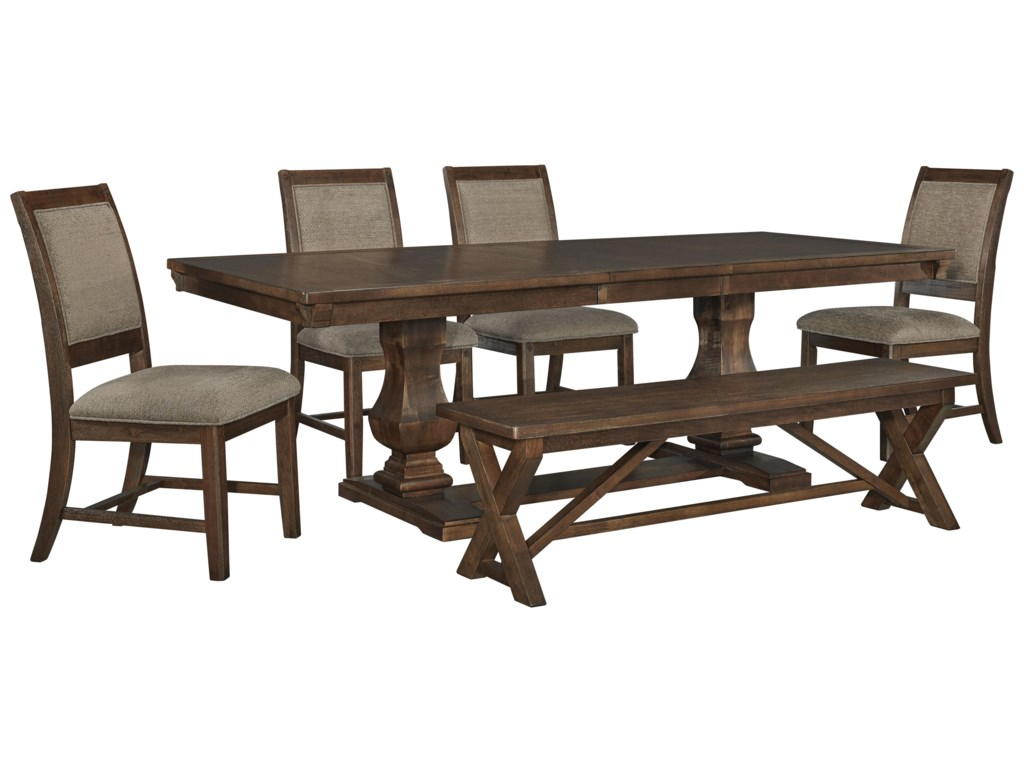 Millennium Windville D662 55 6x01 7 Pc Table And 6 Side Chairs Set Sam Levitz Furniture Dining 7 Or More Piece Sets