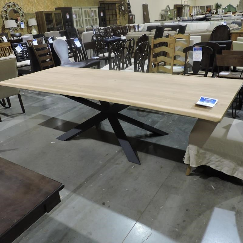 Clearance raw oak dining table