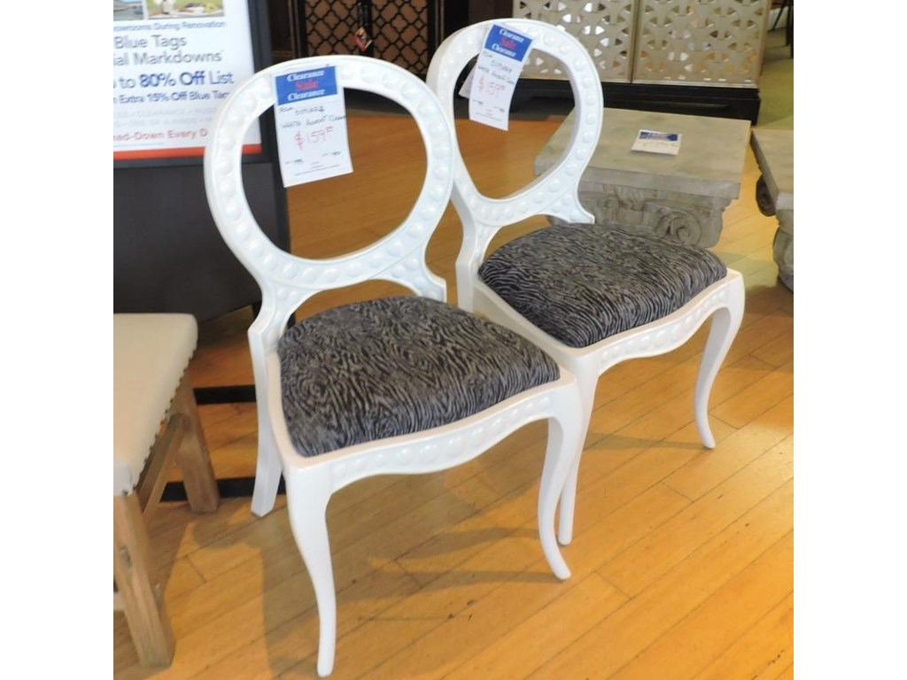 Miscellaneous ClearanceWhite Accent Chair