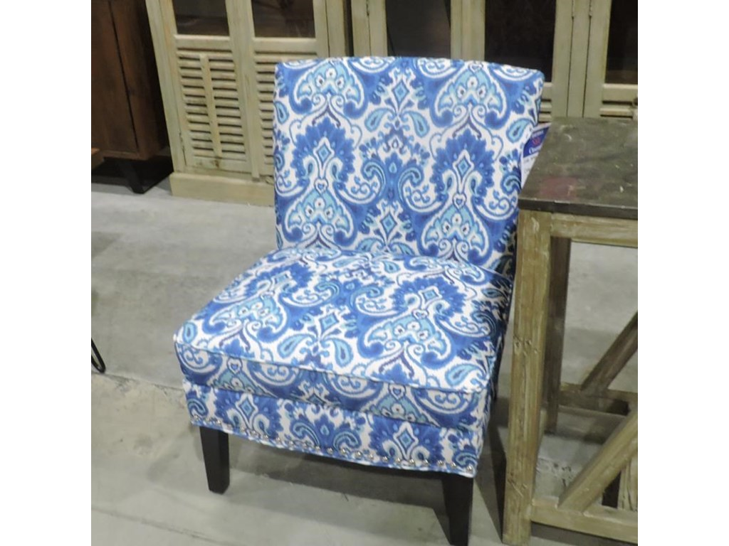 Clearance Chantel Blue Armless Chair | Belfort Furniture ...