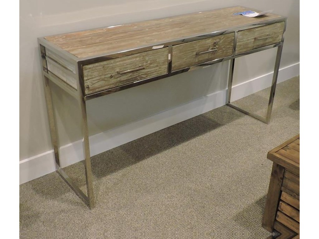 Miscellaneous ClearanceConsole Table Polished Chrome