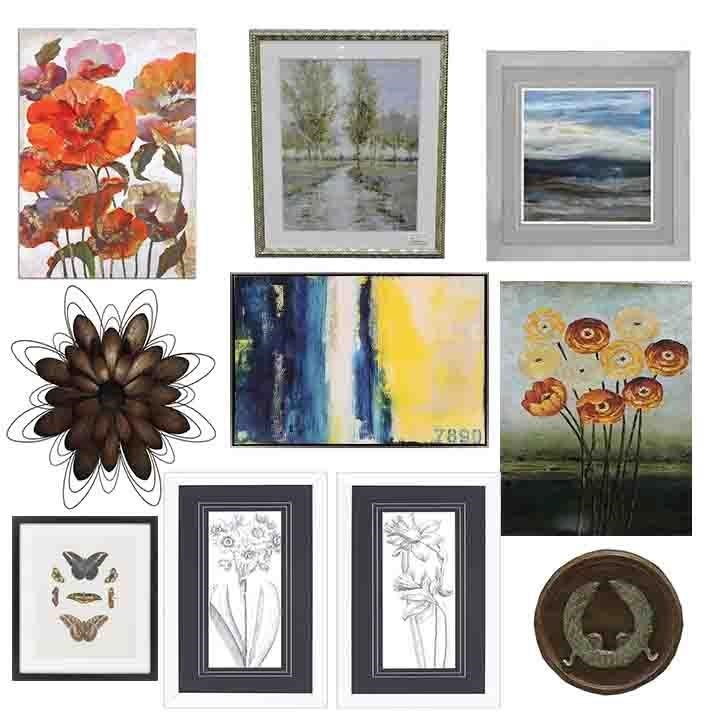 Clearance Wall Art clearance assorted wall art - belfort furniture - prints/paintings