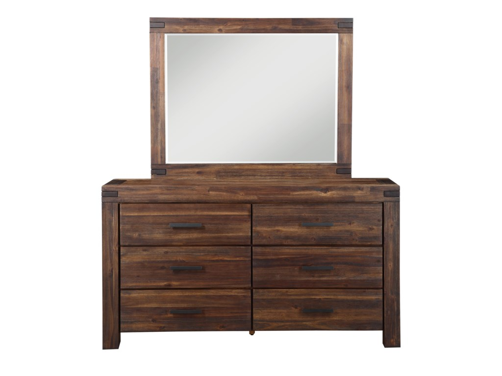 Modus International Camden FieldsDresser and Mirror Combo