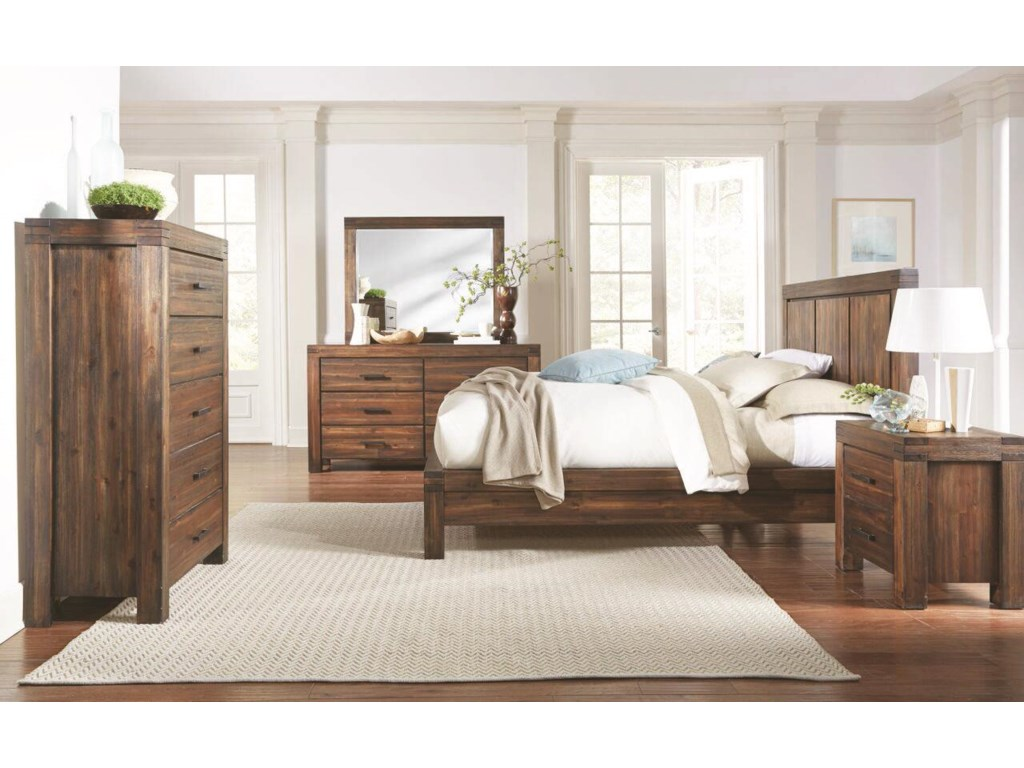 Modus International Camden Fields4-Piece King Bedroom Group