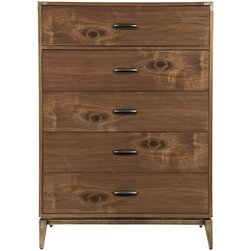 Modus International Adler Mid-Century Modern Five Drawer Chest
