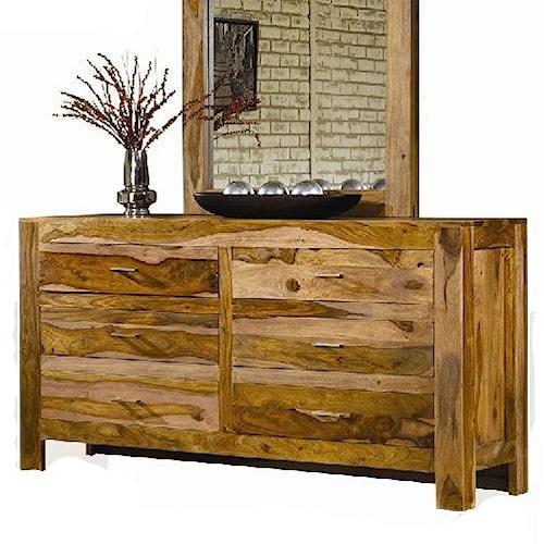 Modus International Atria Contemporary Six Drawer Solid Wood Dresser