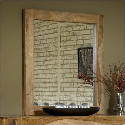 Modus International Atria Contemporary Vertical Mirror with Solid Wood Frame