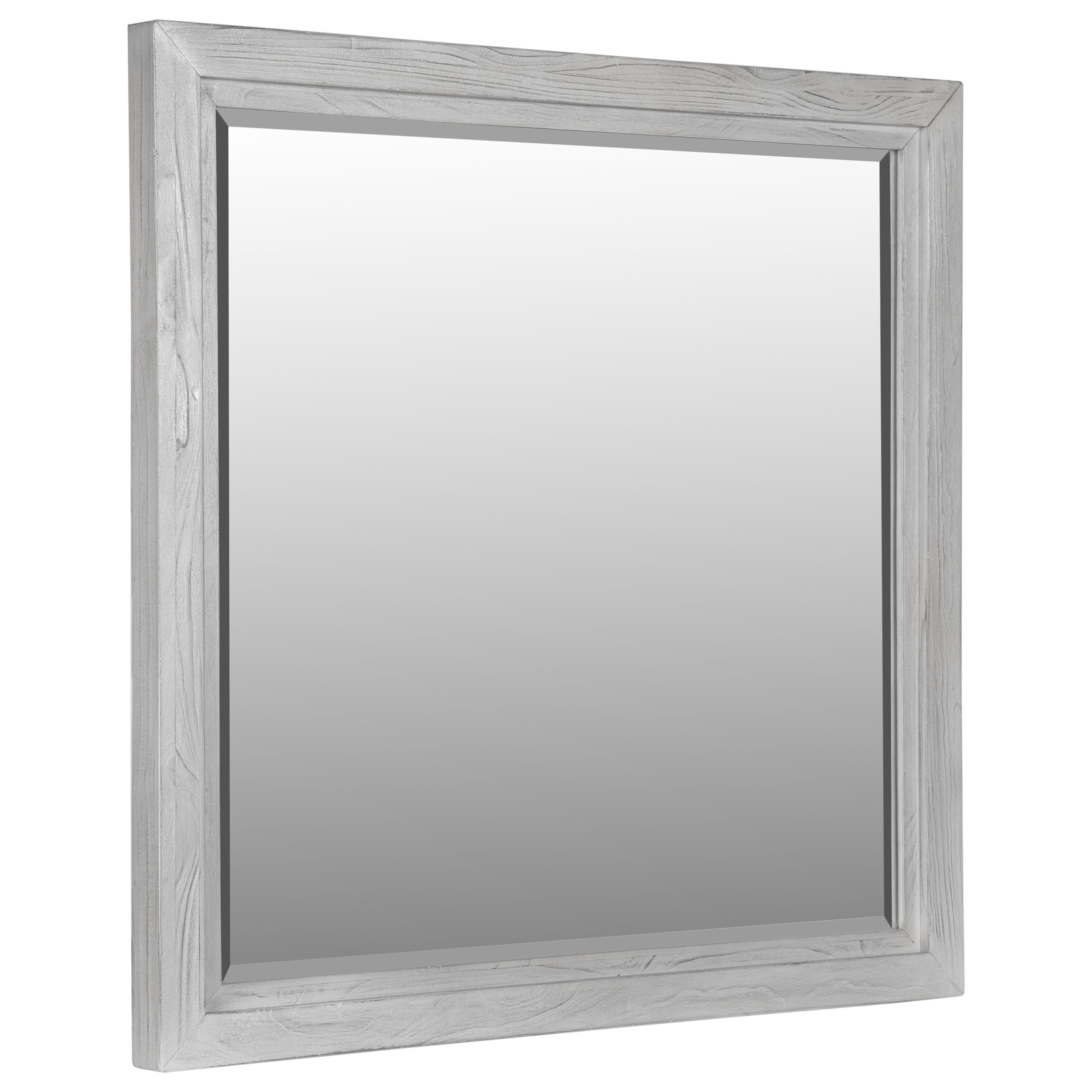 Modus International Boho Chic Plain Mirror In Washed White Reeds Furniture Dresser Mirrors