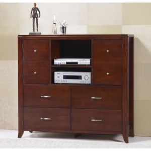 Modus International Brighton 1252477 4 Drawer Media Chest O Dunk O Bright Furniture Chest Media Chest