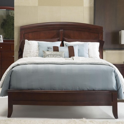 Modus International Brighton King Panel Bed w/ Arched Headboard
