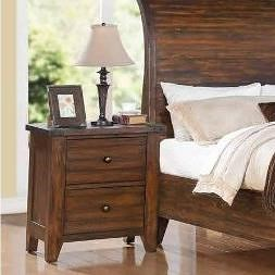 Modus International Cally 9CR 2 Drawer Night Stand with Dovetail Drawers