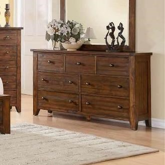 Modus International Cally 9CR 7 Drawer Dresser with Dovetail Drawers