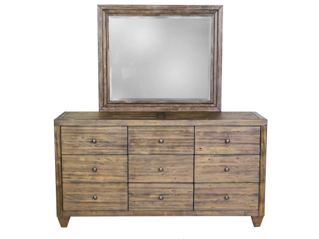 Modus International Corinth9 Drawer Dresser