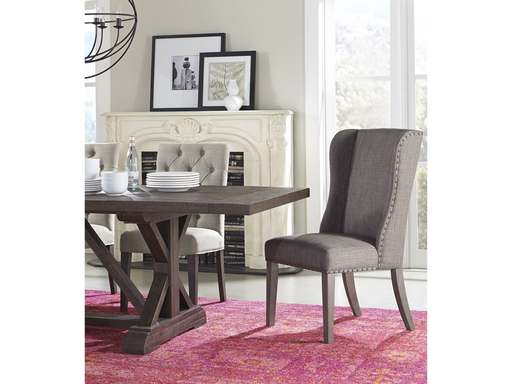 Modus International Crossroads Alex Upholstered Wingback Dining Chair Reeds Furniture Dining Side Chairs