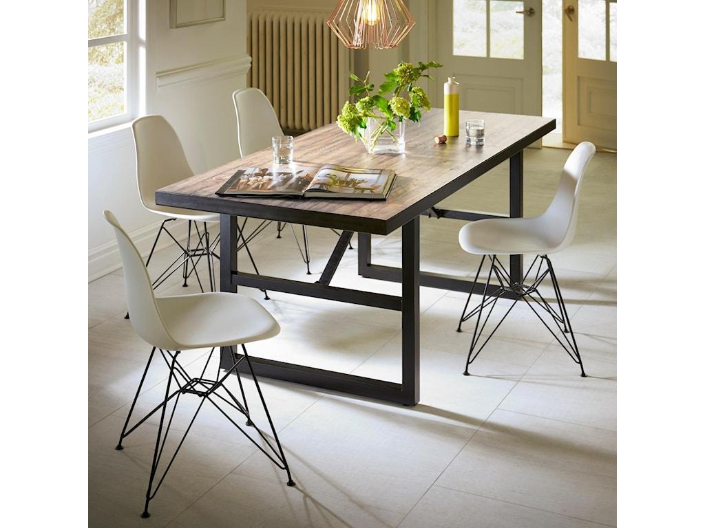 Modus International Crossroads5-Piece Drift Solid Wood/Steel Dining Set