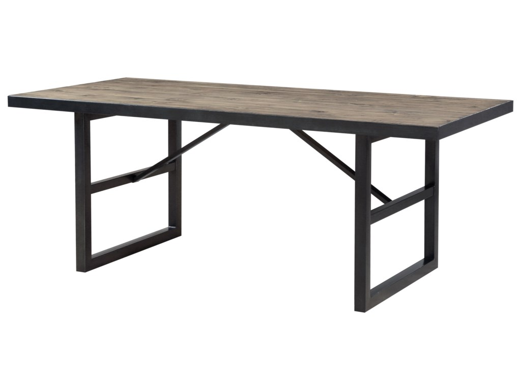 Modus International CrossroadsDrift Solid Wood/Steel Rect. Dining Table