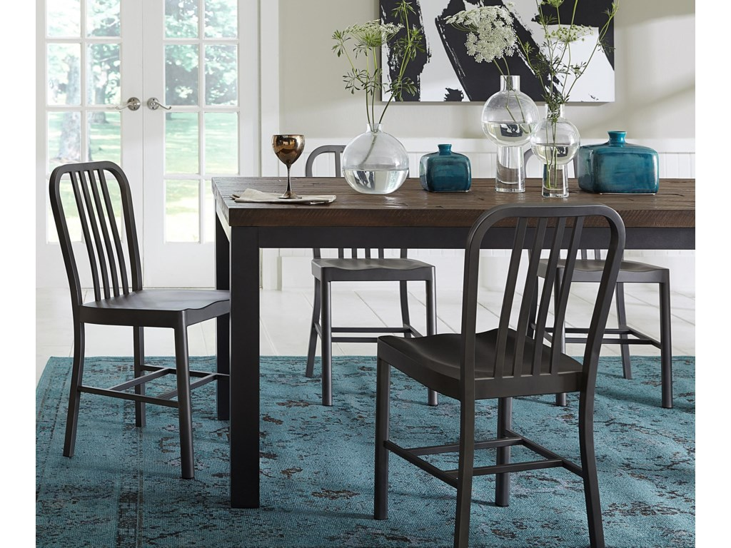 Modus International Crossroads5-Piece Gabe Solid Wood/Metal Dining Set