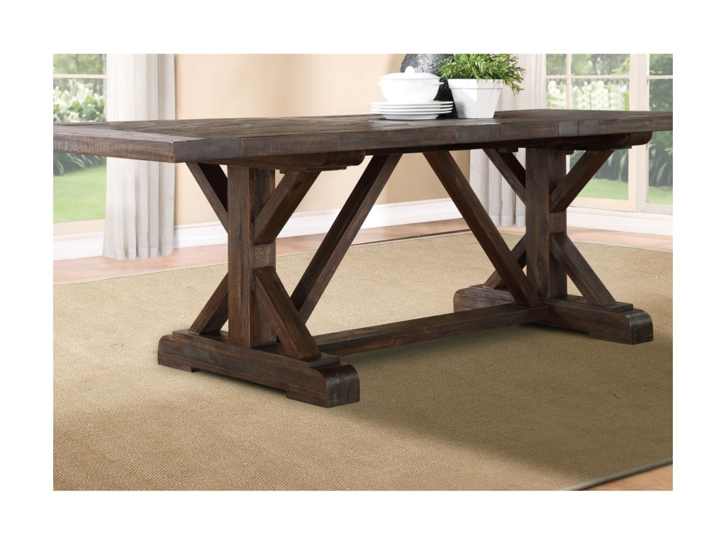 Modus International CrossroadsCameron Solid Wood Extension Dining Table