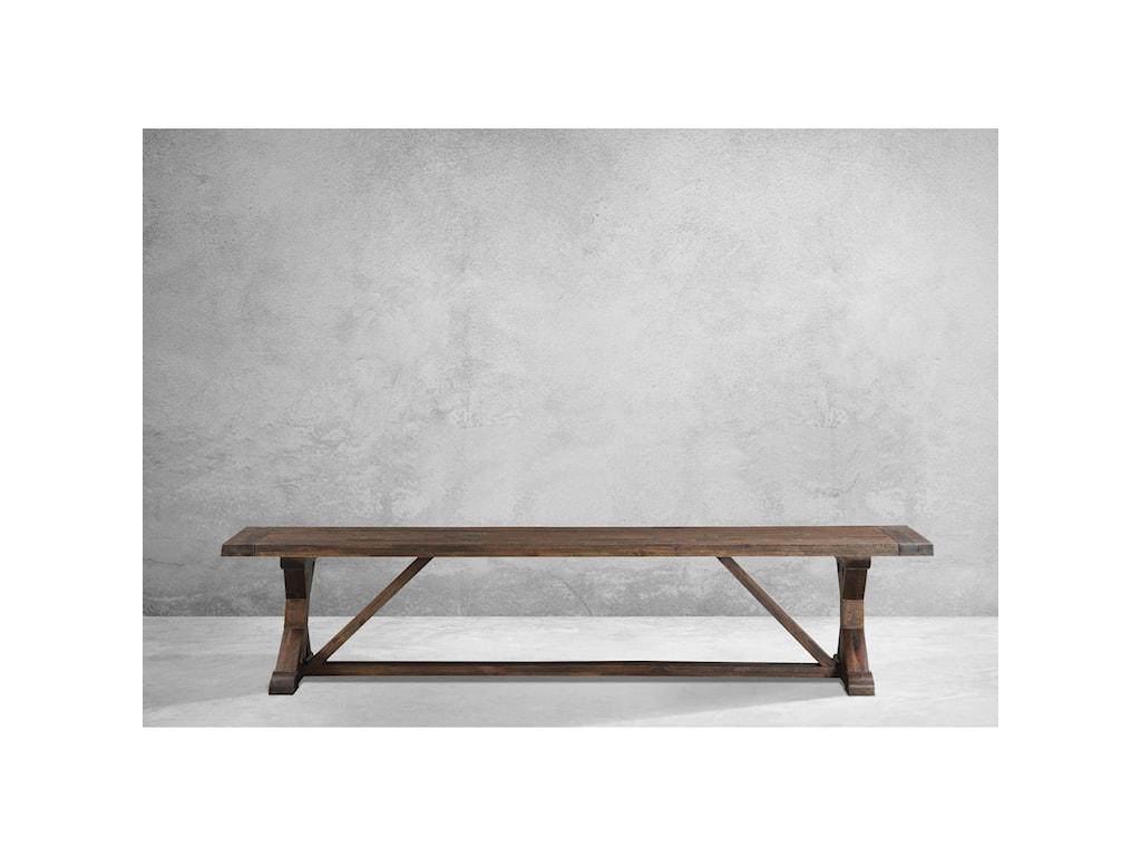Modus International CrossroadsCameron Solid Wood Trestle Dining Bench